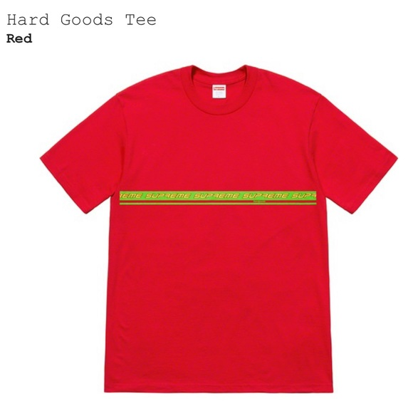 7ee2ef1b26c9 Supreme Shirts | 2019 Hard Goods Red Green Logo Tee Shirt L | Poshmark